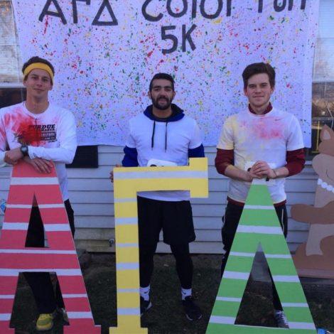 Ball State Participates in Alpha Gamma Delta Color Run (Ball State 20151211)
