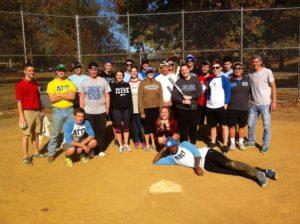 Softball Social with Pi Beta Phi (Millikin 20151025)