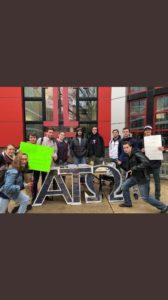 Iota Psi Brothers raise money for eye to eye organization! (Temple 20180226)