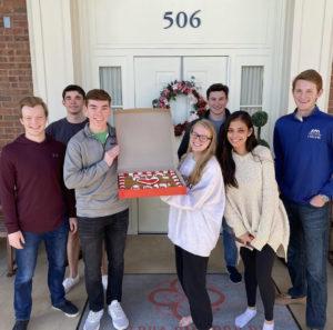 Theta Pi celebrates Alpha Omicron Pi Founder's Day